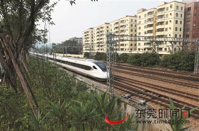 """广深铁路樟木头段沿线""""整""""出别样风景"""