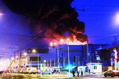 俄购物中心大火 已致37人死亡图片 107215 400x266