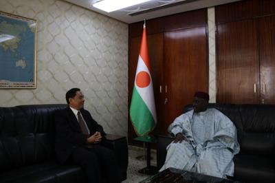驻尼日尔大使张立军会见尼外长