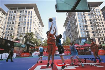 广东省三人篮球联赛(东莞南城赛区)落幕南城男篮、松山湖女篮分别夺冠