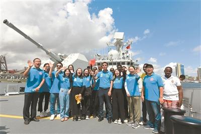 海军第33批护航编队潍坊舰抵达坦桑尼亚达累斯萨拉姆港
