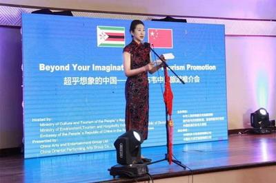 驻津巴布韦大使夫人王薇出席津中国旅游推介会