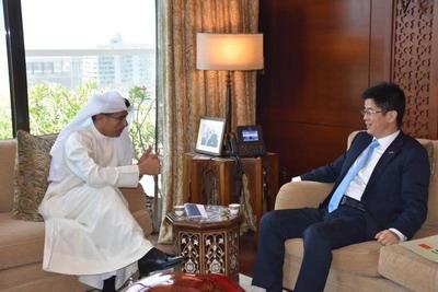 驻迪拜总领事李旭航会见伊玛尔地产集团主席阿拉巴尔