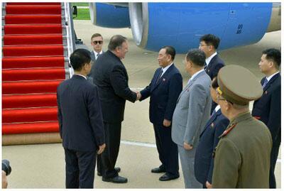 资料图:蓬佩奥7月访问朝鲜
