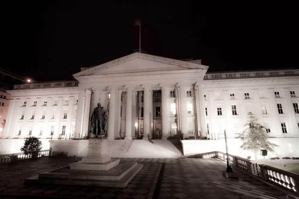 ▲美国财政部大楼