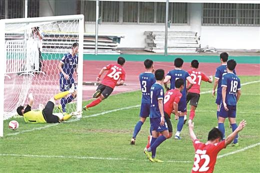 主场击退昆山FC 广西宝韵夺取宝贵3分