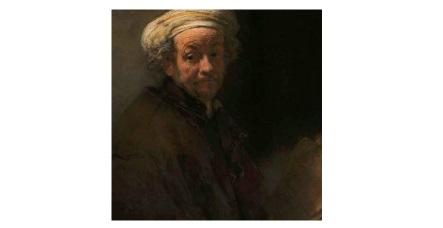 《扮成使徒保罗的自画像》,画中为55岁的伦勃朗。(1661年)