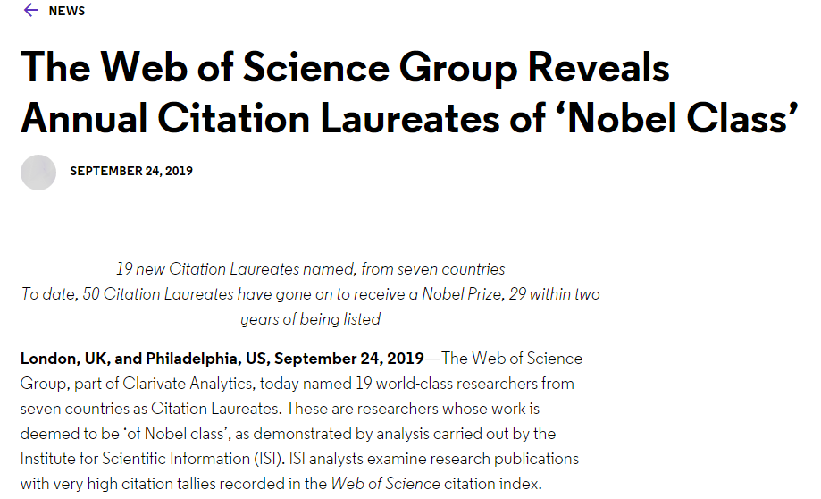 诺奖风向标预测获奖名单:百度研究院科学家在列