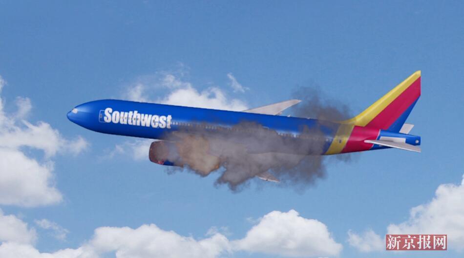 3D:急坠30米乘客被吸出窗外!美国一客机高空中引擎爆炸