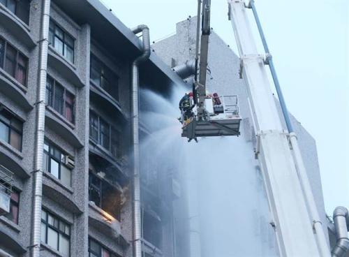 台北医院13日发生火警。(图:台湾《中时电子报》/赵双杰 摄)