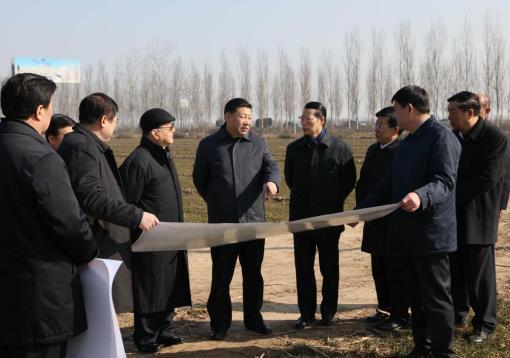 2017年2月23日,习近平在河北考察雄安新区规划建设工作。