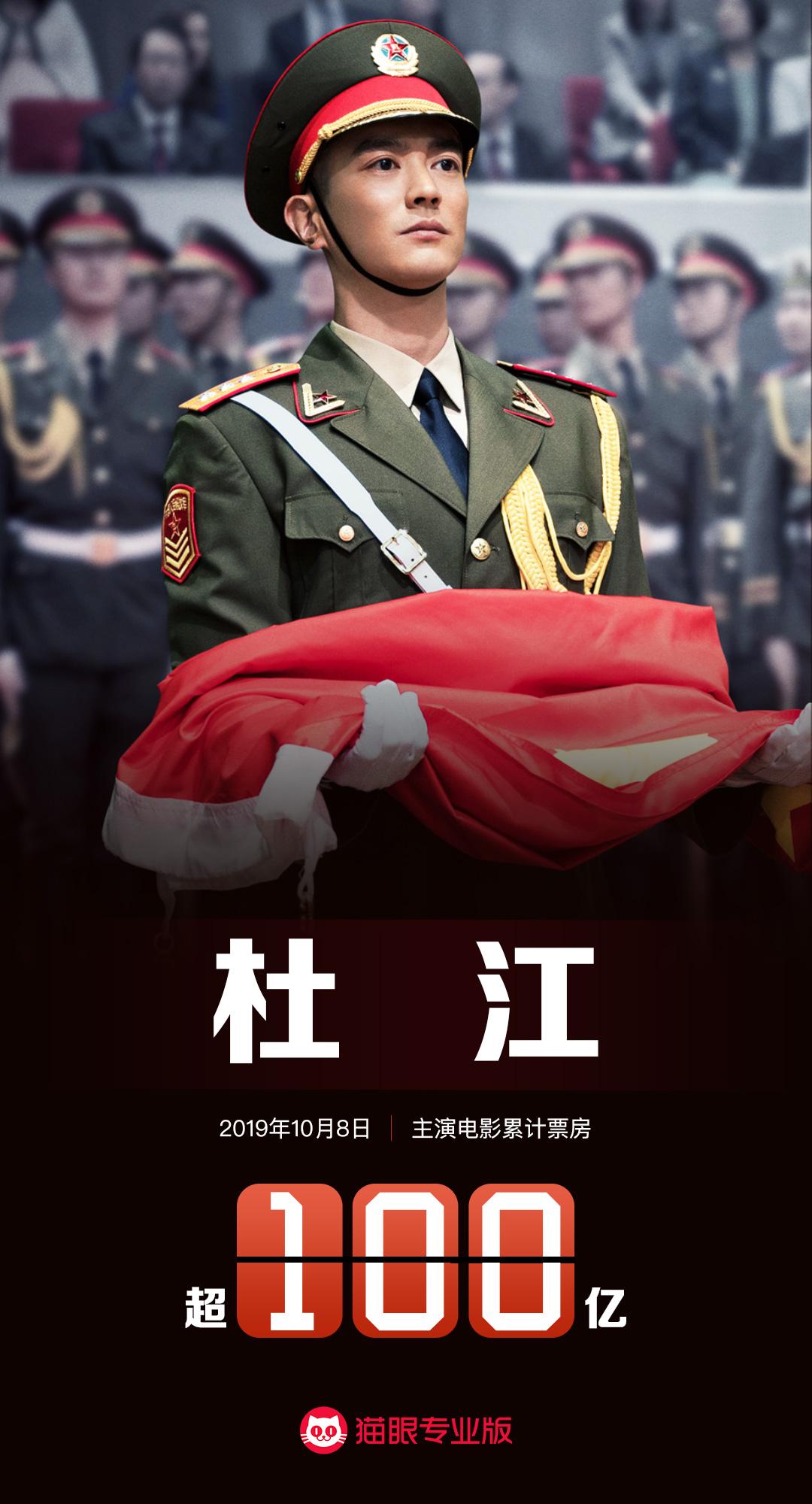 国庆档双片助力,杜江成为华语影史最年轻百亿票房演员