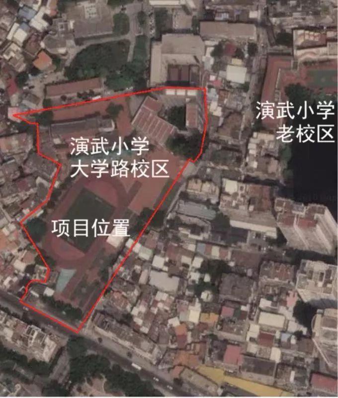 ▲图上红色区域为项目所在地