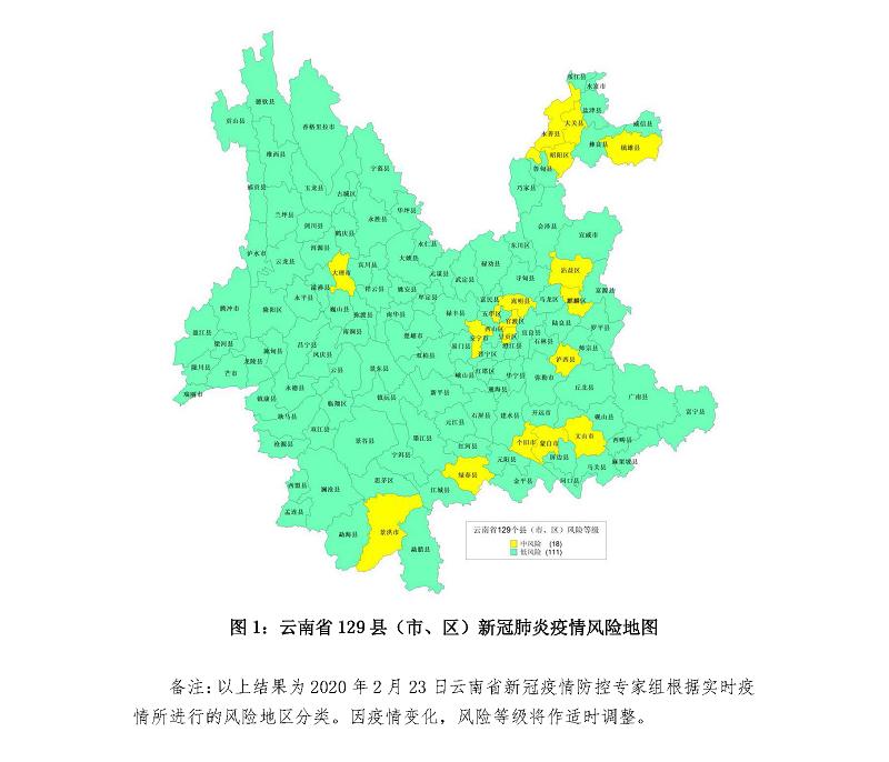 云南最新疫情风险更新:再增4个低风险县市区图片