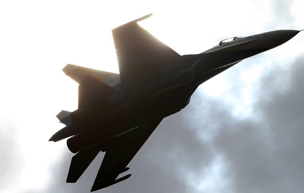 俄军Su-27战役机。(图源:塔斯社)