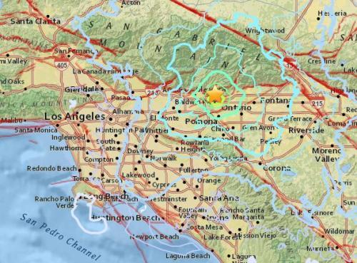 美国洛杉矶以东发生4.4级地震 民众称震感强烈