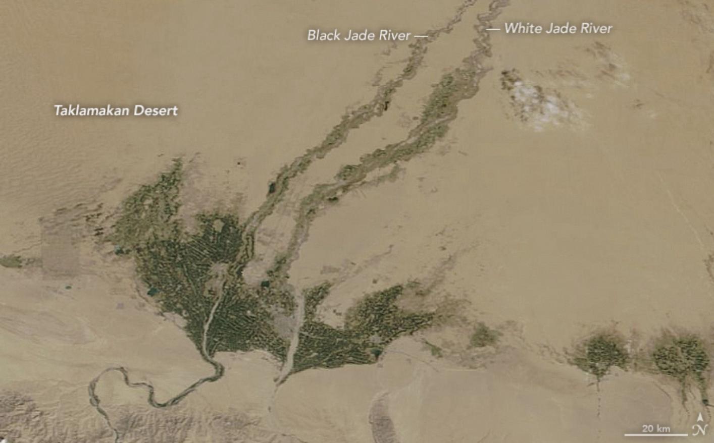 NASA卫星显示:塔克拉玛干沙漠在变绿图片
