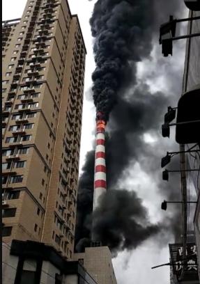 西安南郊一家热力公司发生火灾 现场浓烟滚滚(图)
