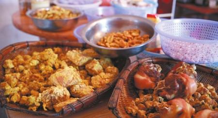 招待台湾亲人的家乡菜。