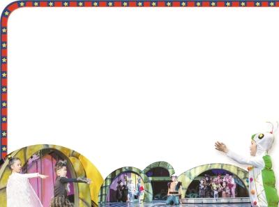 """舞台上,活泼的小毛毛虫""""阿毛"""",可爱的""""小猫""""等主演,全部由5-7岁的孩子"""