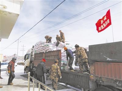 玉树军分区组织民兵投身抗雪救灾纪实