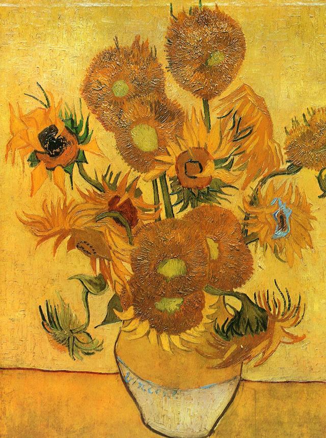 荷兰梵高博物馆收藏的《向日葵》出现变色状况