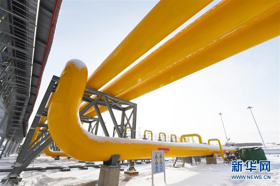 这是中俄东线天然气管道北段黑河首站场区局部(11月19日摄)。新华社记者 王建威 摄