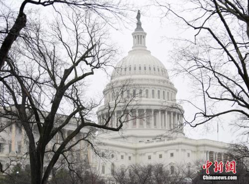 资料图:美国国会大厦。(图片来源:中新社记者 张蔚然 摄)