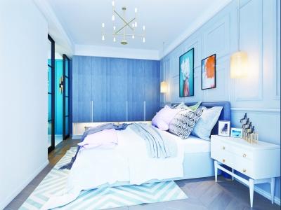 大学生安居房样板间卧室效果图