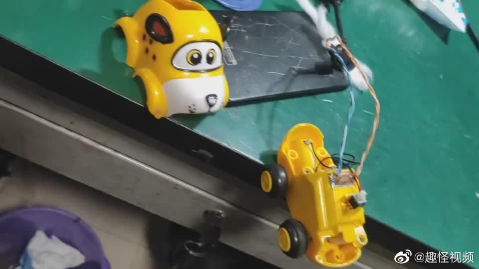 闺女的玩具车被玩爆了