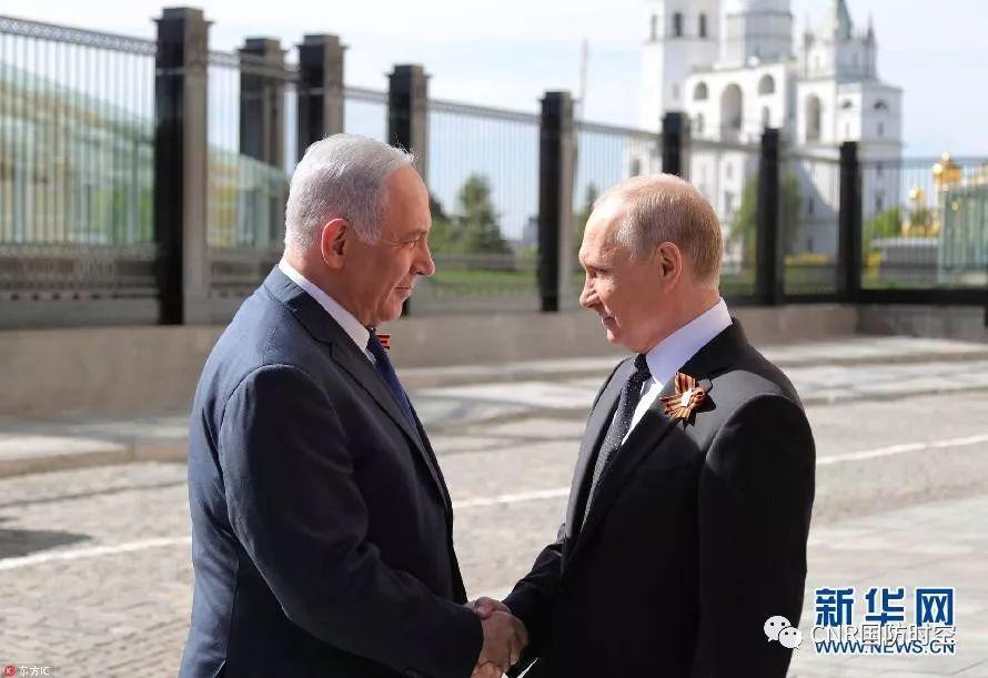 俄罗斯总统普京与以色列总理内塔尼亚胡