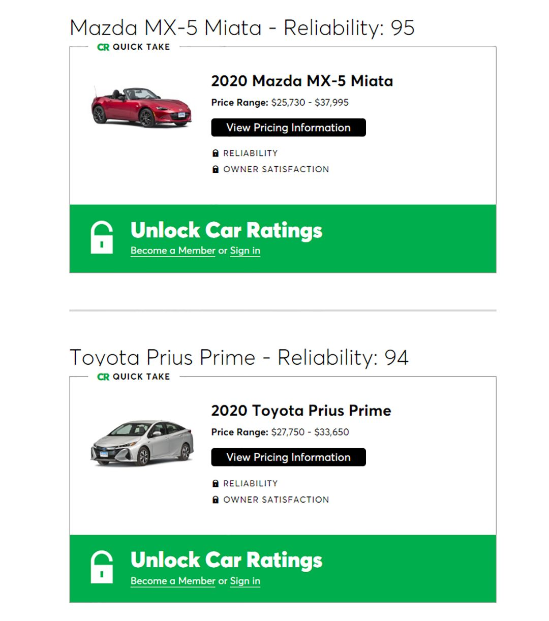 【新闻】买车必看!《消费者报告》年度十佳评选出炉