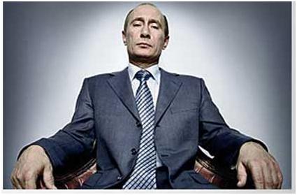 《时代》英国籍摄影师普拉登为普京拍摄的照片。