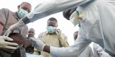 肯尼亚Nanyuki市的医护人员