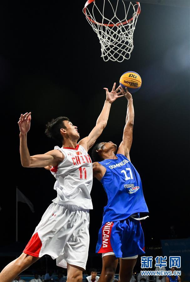 世界沙滩运动会:中国沙滩篮球男队胜多米尼加男队