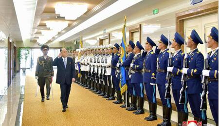 图注:金永南结束访俄之行返回朝鲜