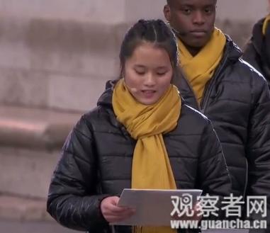 欧洲举行一战结束100周年纪念活动,少女用中文朗读劳工信件