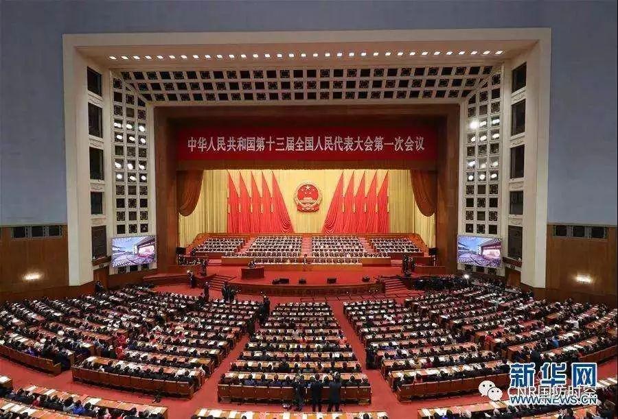 3月20日,第十三届全国人民代表大会第一次会议在北京人民大会堂举行闭幕会。新华社