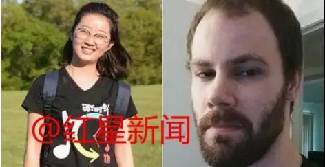 嫌犯克里斯滕森(右)被捕,FBI称相信章莹颖(左)已经遇害。 红星新闻 图