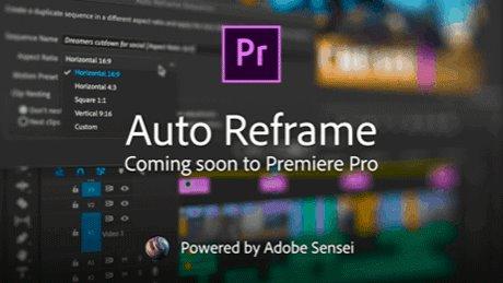 重磅更新!Adobe再发黑科技,Pr将加入自动重构图功能