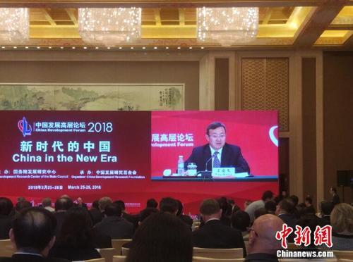 商务部副部长王受文。中新网记者李金磊 摄
