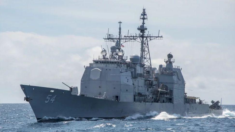 """▲美国太平洋舰队发言人北京时间10月22日晚表示,美军""""柯蒂斯·威尔伯""""号和""""安蒂塔姆""""号两艘舰艇于当天执行所谓""""例行过境""""台湾海峡的任务。图为""""安蒂塔姆""""号。(美联社)"""