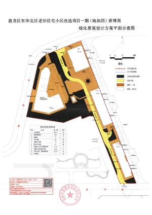 盘龙区城市管理局盘龙区东华北区老旧住宅小区改建项目一期(地块四)香博苑项目绿化工程设计方案公示