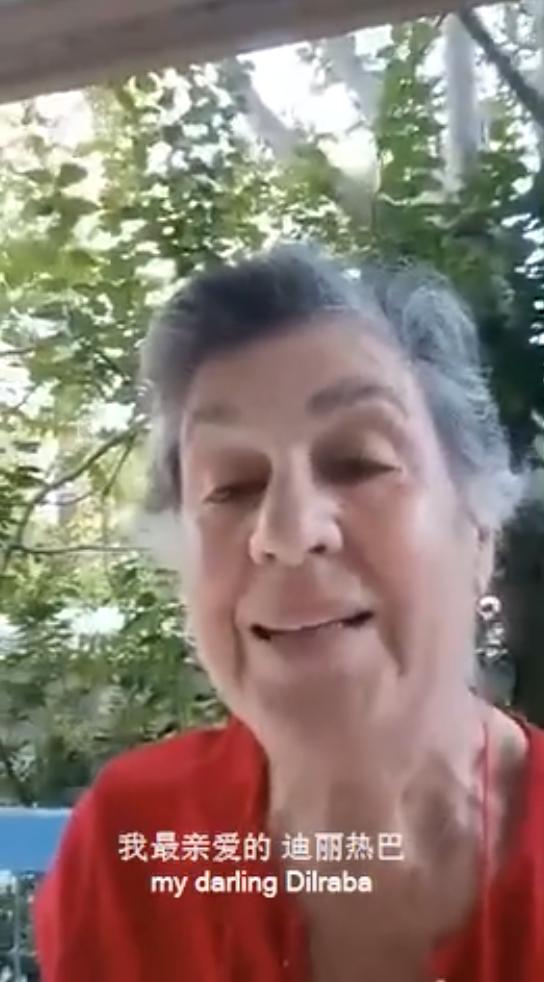 希腊奶奶给迪丽热巴送生日祝福 亲切称她是小甜心