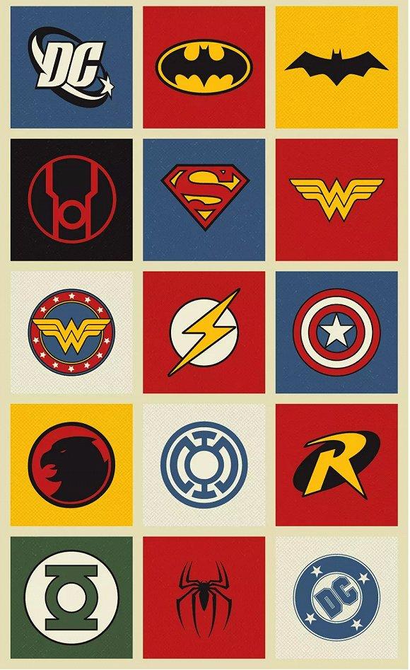 超级英雄们的logo