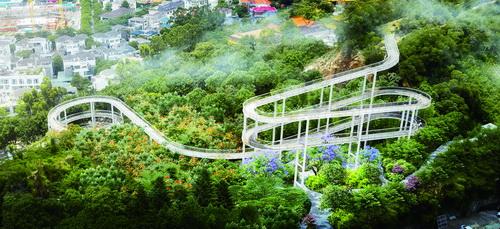 健康步道将形成贯穿东西绿廊的景观带 全线绿化占74.9%