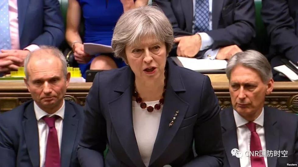 英国首相特蕾莎⋅梅在议会宣布:驱逐23名俄罗斯外交官,限期一周离开英国境内。(资料图)