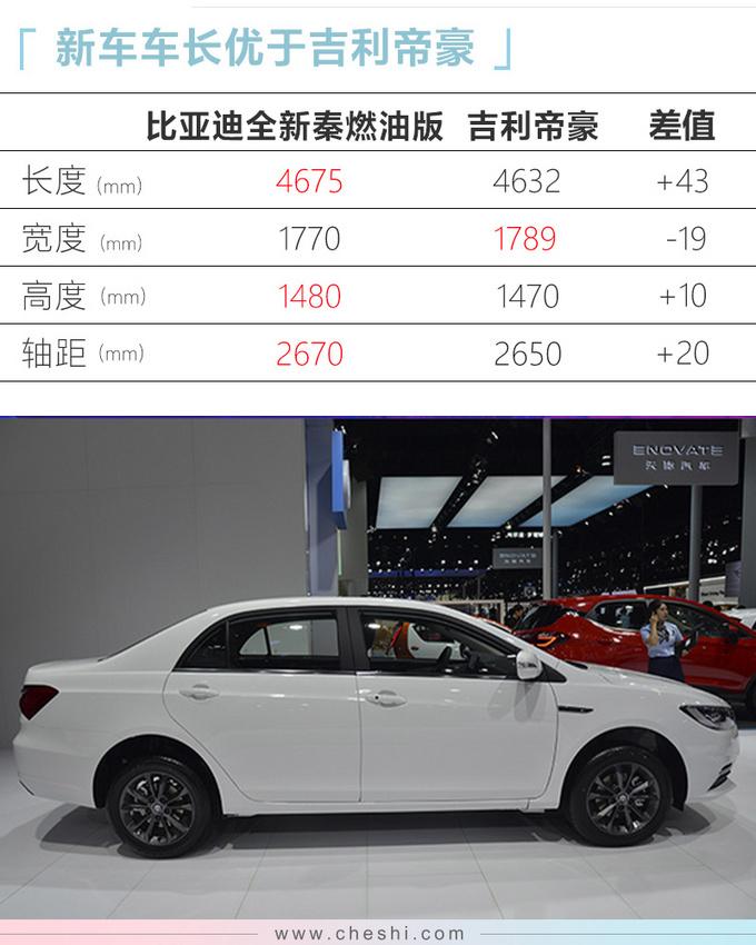 比亚迪全新秦燃油版配置曝光 本月上市6.68万起