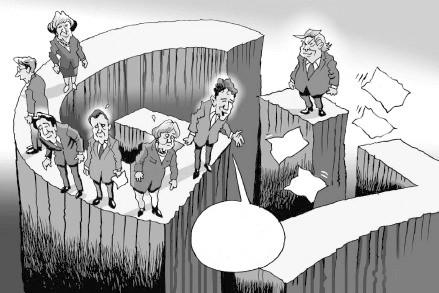 媒体纷纷发表和G7峰会有关的讽刺漫画。