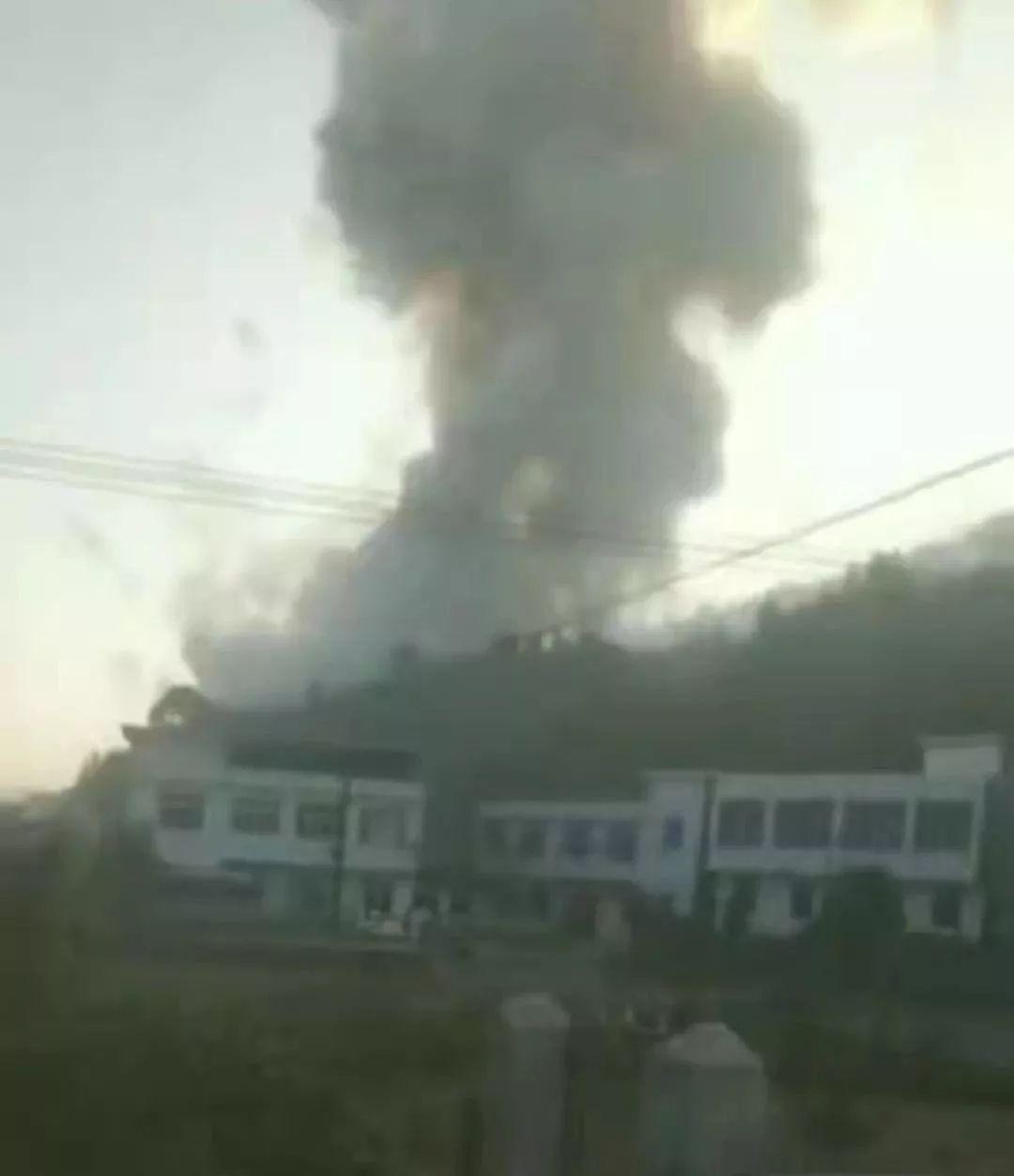 爆炸现场视频截图